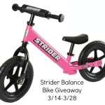 Enter : STRIDER Bike Giveaway