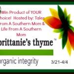 Enter : Brittanie's Thyme Organics Giveaway