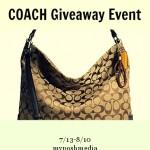 Enter : Summer COACH Handbag Giveaway