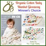 Enter : Organic Cotton Baby Blanket Giveaway