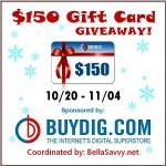 Enter : $150 BuyDig Gift Card Giveaway