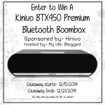 Enter : Kinivo BTX 450 Premium Bluetooth Boom Box Giveaway