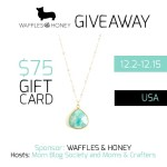Enter : $75 WAFFLES & HONEY GC Giveaway