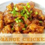 Simple Orange Chicken