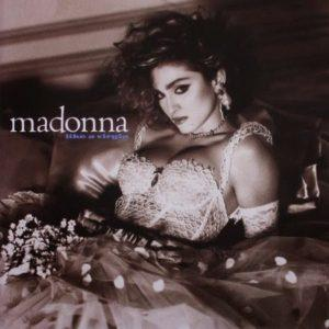 Album cover of Like a Virgin by Madonna.