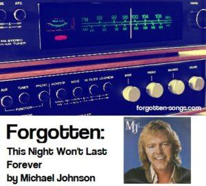Forgotten: This Night Won't Last Forever by Michael Johnson