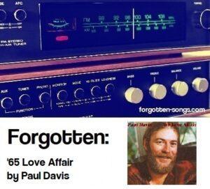 Forgotten: '65 Love Affair by Paul Davis