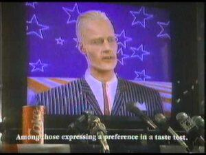 Max Headroom advertising Coke.