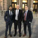 Rahul Patel, Paul Pennington and James Harris before the 2017 Special Session testimony for the Senate Finance Committee on property tax reform legislation.