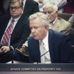 Paul Pennington addressing the Texas Senate PropertyTax Committee on legislation for Texas property tax reform.