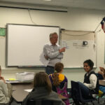 Paul Pennington participating in Indian Creek Elementary School presentation.