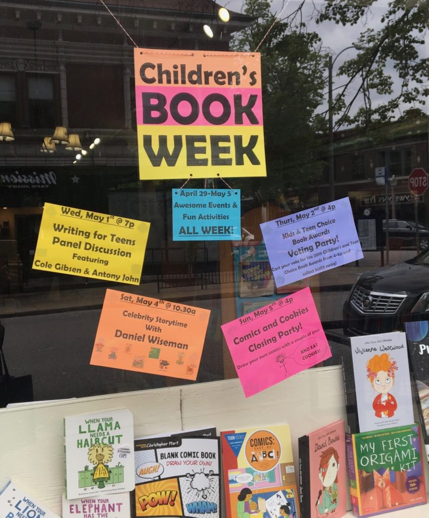 Nicki's Central West End Guide Books, Dance, Music, Theater For kids  Left Bank Books Daniel Wiseman Cole Gibson Children's Book Week Central West End Antony John