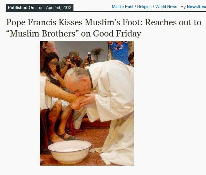 pope kisses feet