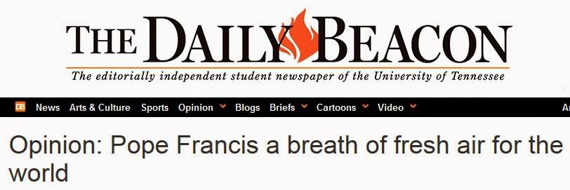 pope francis breath of fresh air