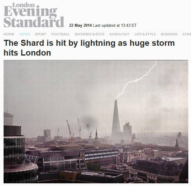 Lightning hits again