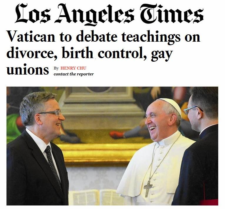 LA Times Pope Francis