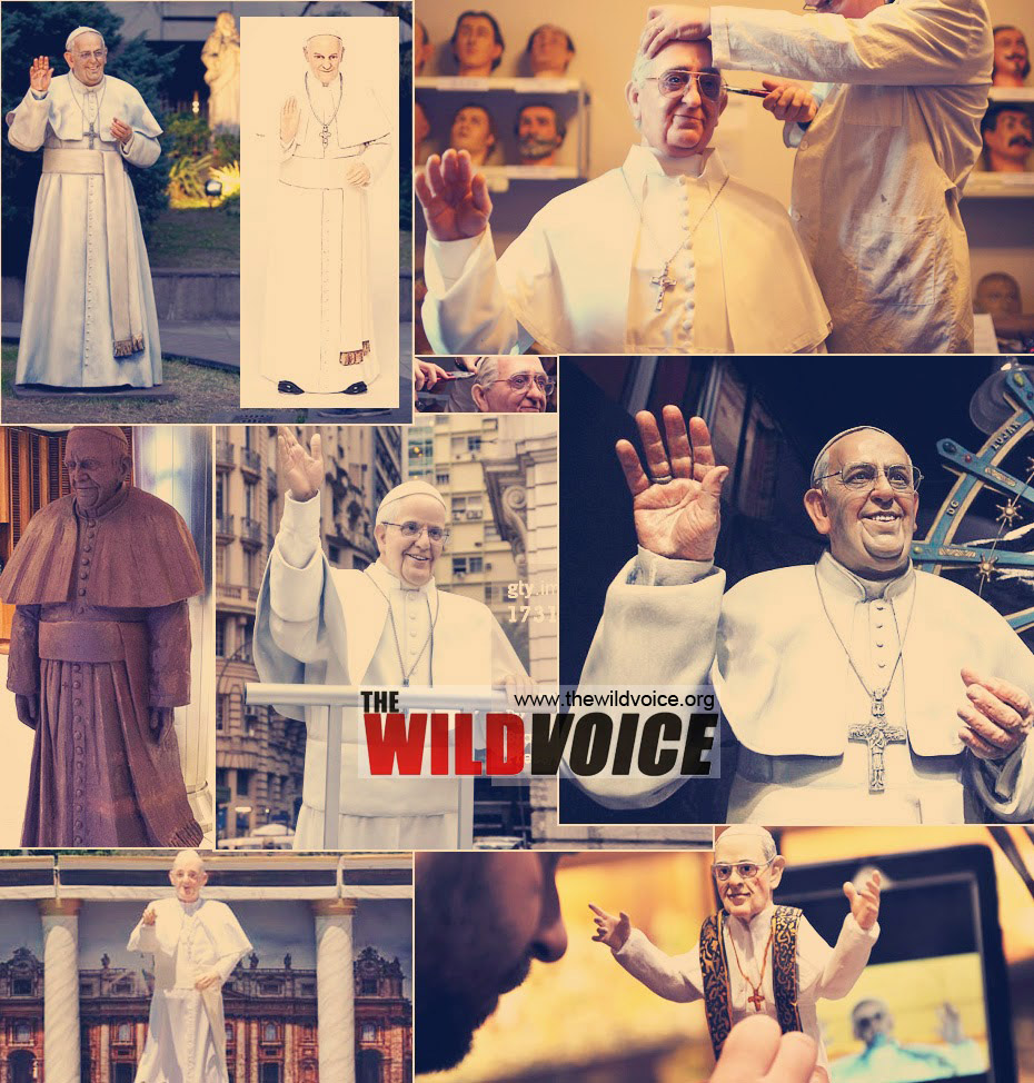 statues of pope francis