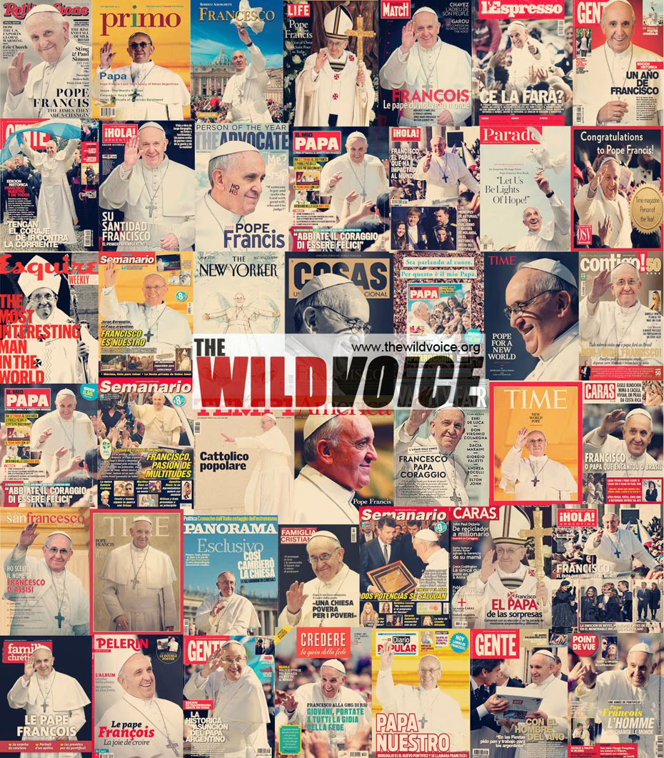 magazine covers of pope francis