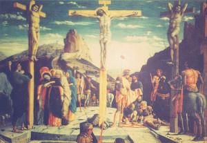Jesus on cross with thievs