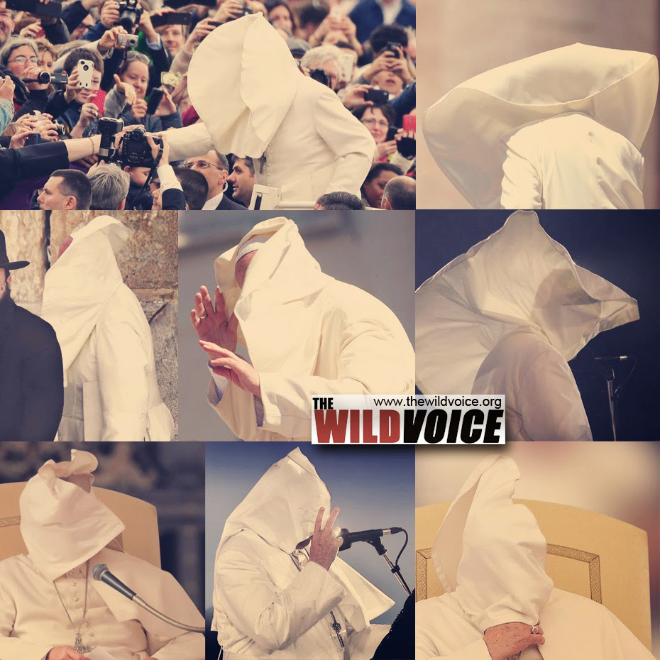 pope in wind