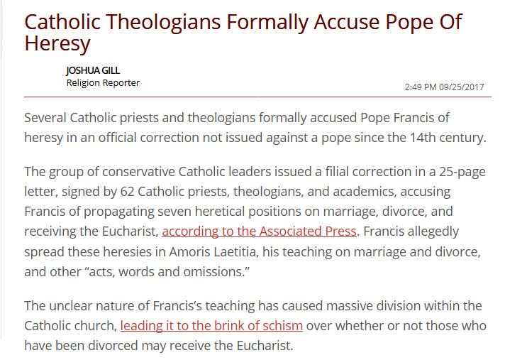 pope francis heresy filial correction