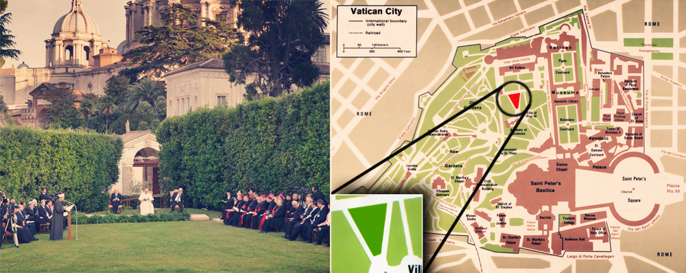 Triangle lawn at the Vatican