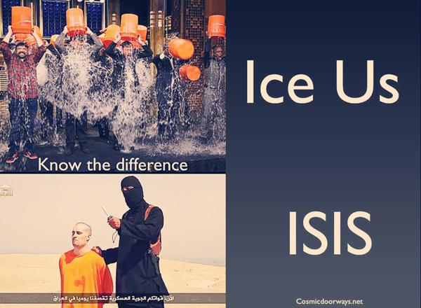 ISIS, Ice, bucket, challenge, water, terror, superficial, false prophet, antichrist