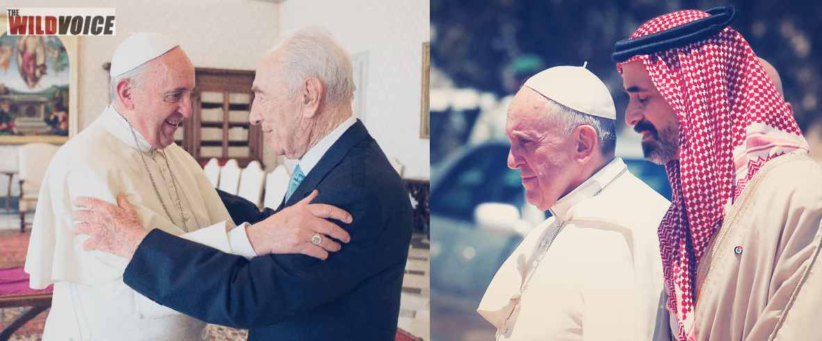 pope, francis, one world religion, israel, jordan, prince, president, vatican