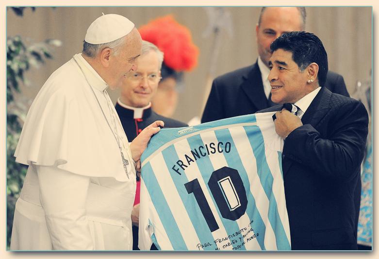 pope francis, maradona, diego, soccer, game, peace, God, Church, Catholic, ISIS