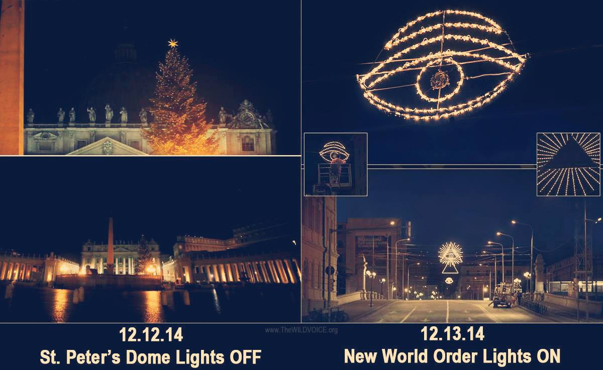 New world order lights vatican