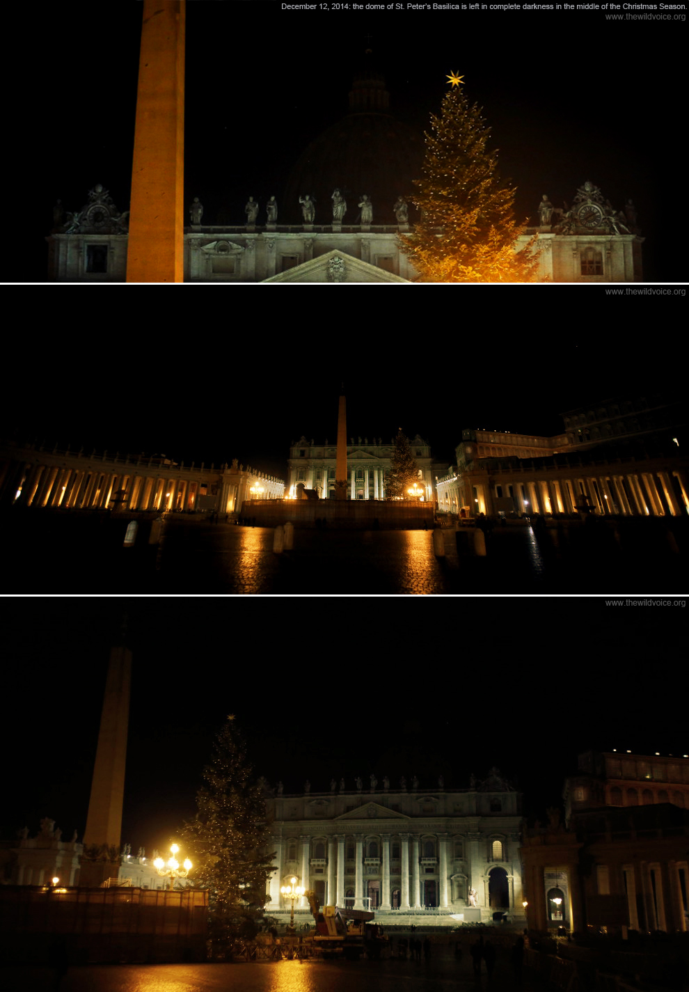 St. Peter's Basilica, dome, black, invisible, False Prophet, dark, darkness, the wild voice, ritual, Rome, Church, Catholic