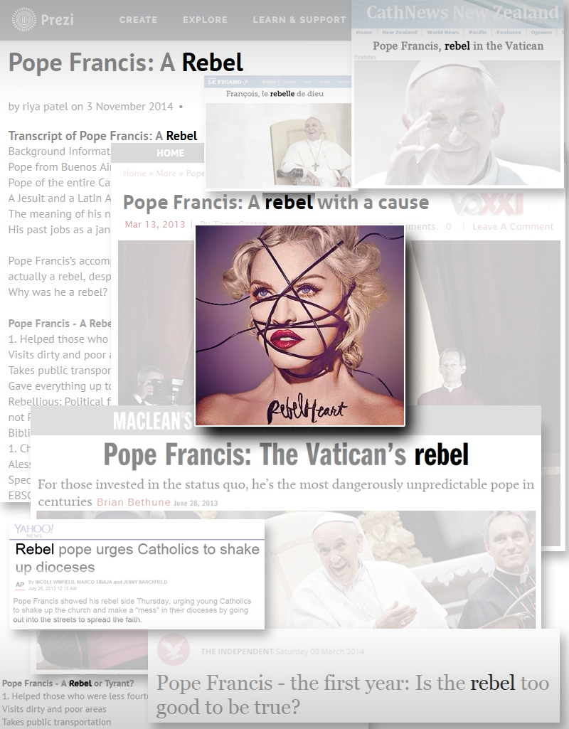 Madonna's Rebel Heart: Pope Francis