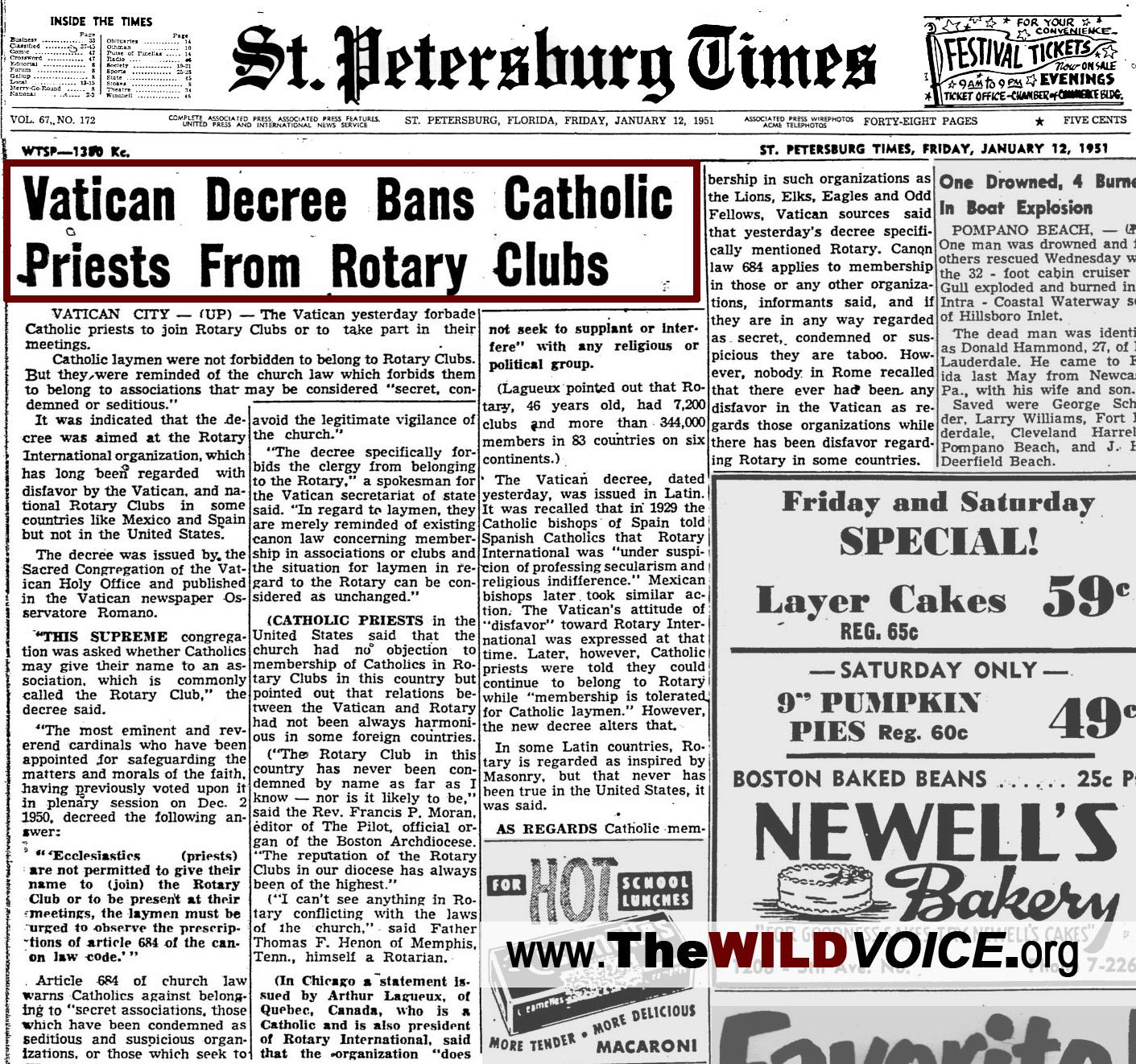 Vatican Decree