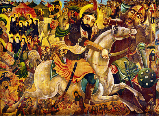 painting Mohammed Islam conquers