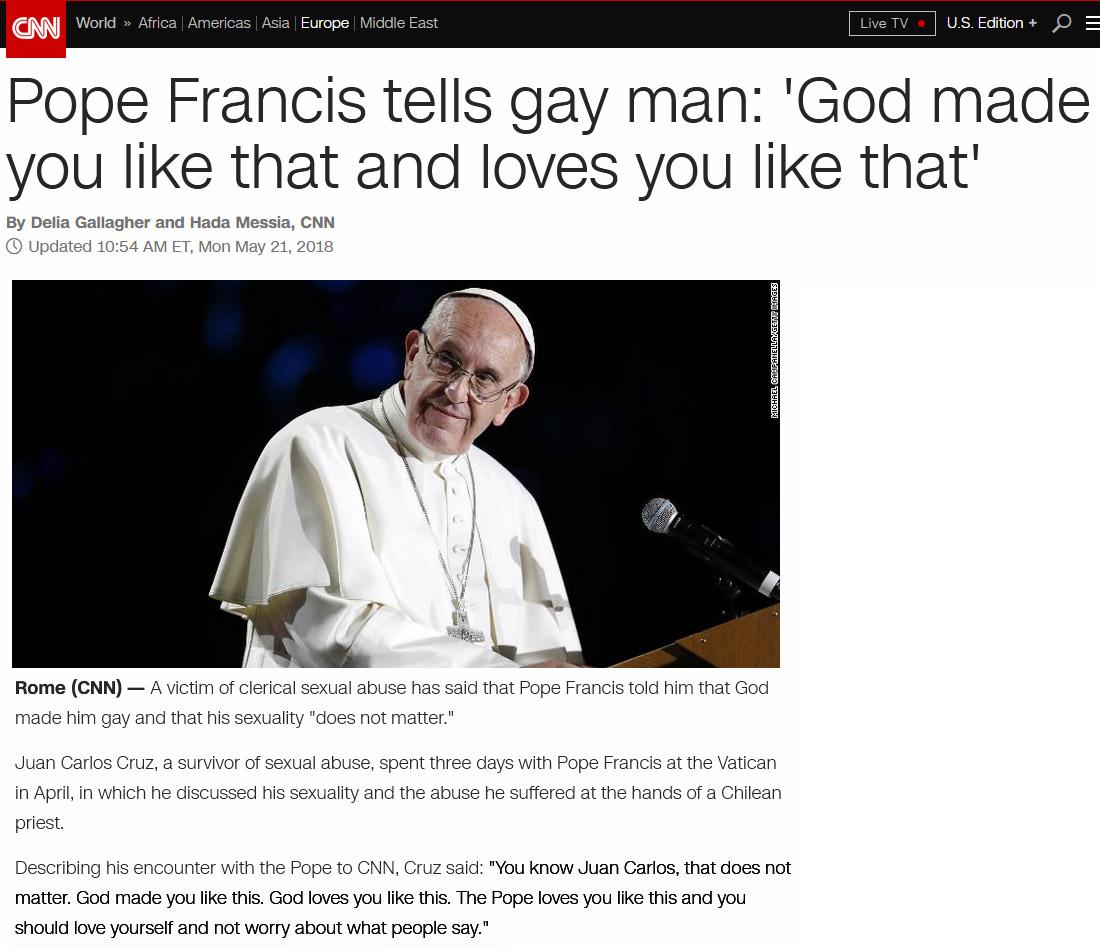 pope francis gay false prophet