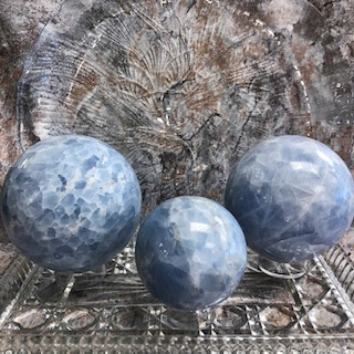 Blue Calcite Spheres – Large