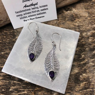 Sterling Silver Earrings – Amethyst