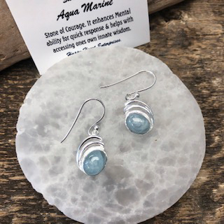 Sterling Silver Earrings – Aquamarine