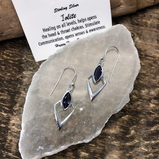 Sterling Silver Earrings – Iolite