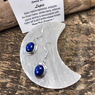 Sterling Silver Earrings – Lapis