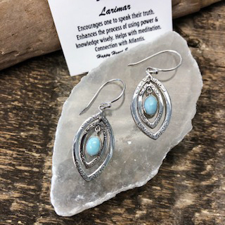 Sterling Silver Earrings – Larimar