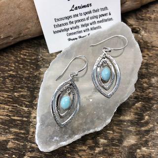 Sterling Silver Earrings – Larimar