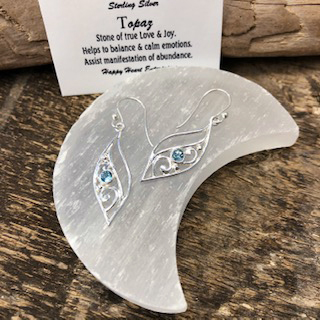 Sterling Silver Earrings – Topaz