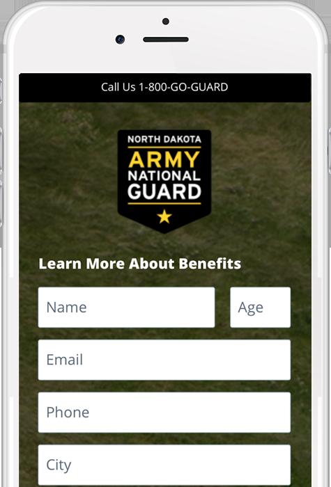 NDARNG Landing Page example