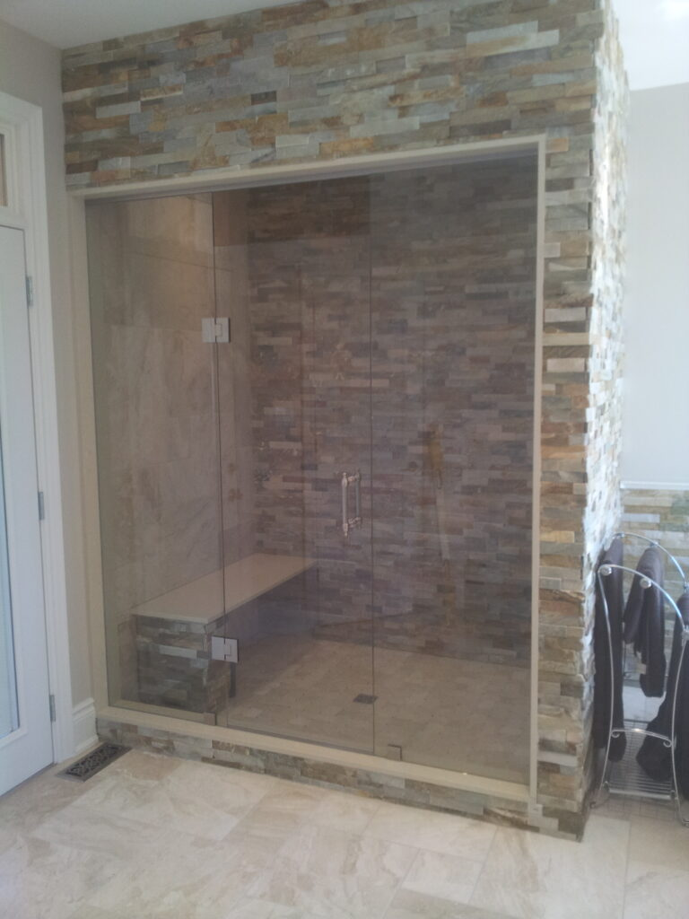 inline shower enclosure