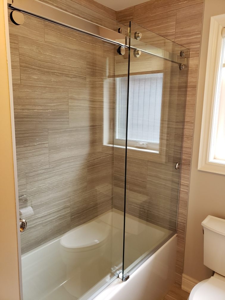 double sliding tub door