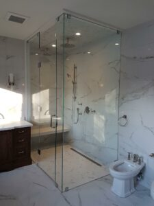 4 pc. swinging door shower enclosure