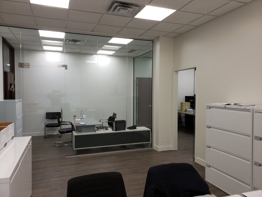 office walls and entry