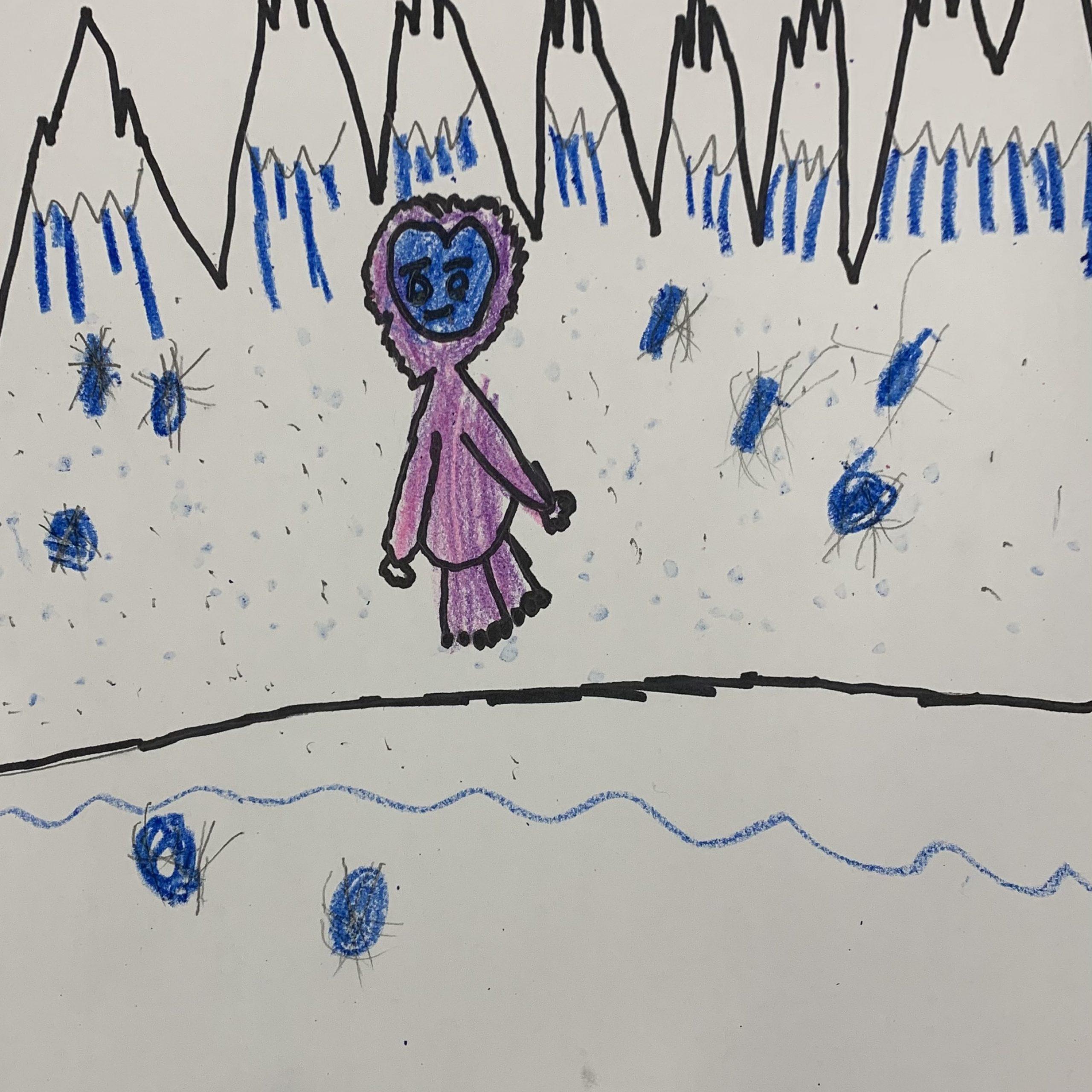 yeti in the snow rowan 2nd l