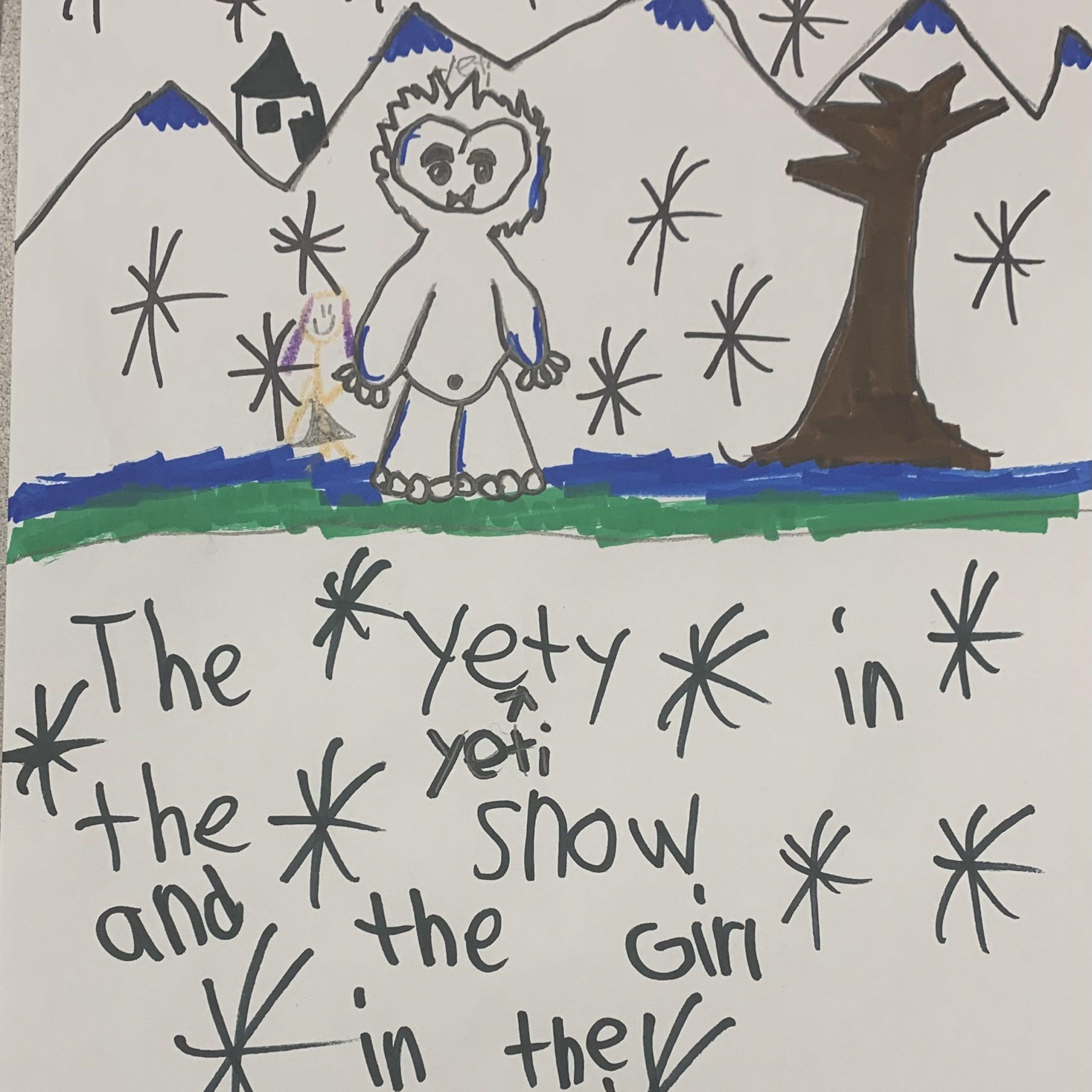 yeti in the snow katerina h